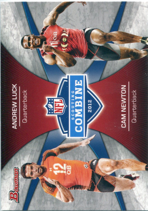 2012 Bowman Combine Competition #CCLN Andrew Luck/Cam Newton