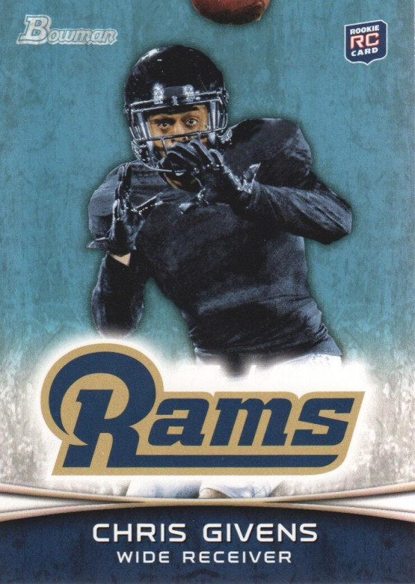 2012 Bowman #179 Chris Givens RC