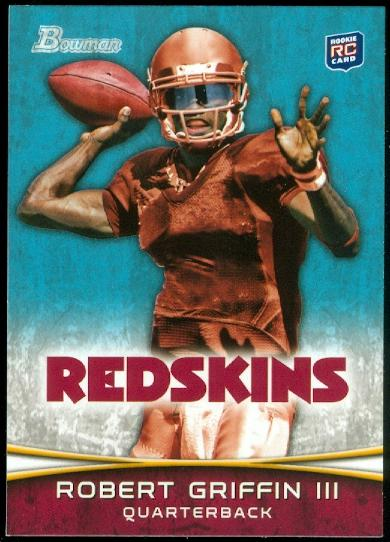 2012 Bowman #200A Robert Griffin III RC/passing pose