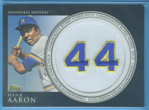 2012 Topps Retired Number Patches #HA Hank Aaron S2