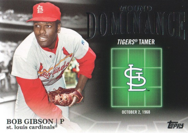 2012 Topps Mound Dominance #MD6 Bob Gibson