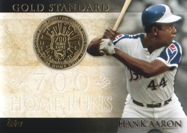 2012 Topps Gold Standard #GS31 Hank Aaron