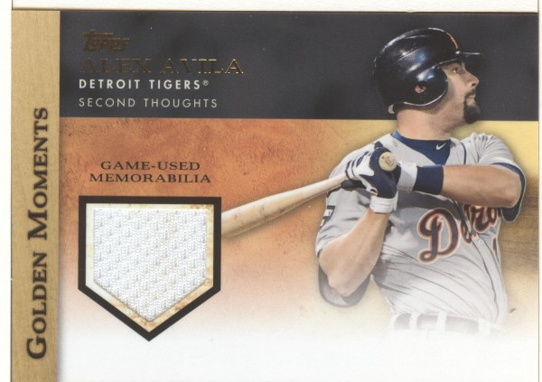 2012 Topps Golden Moments Relics #AA Alex Avila S2