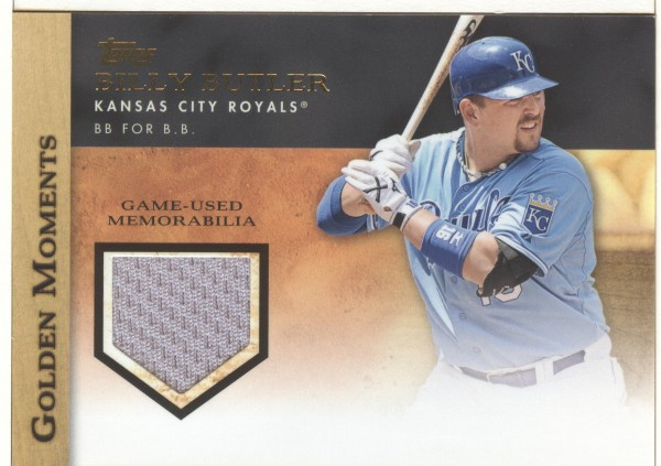 2012 Topps Golden Moments Relics #BB Billy Butler S2