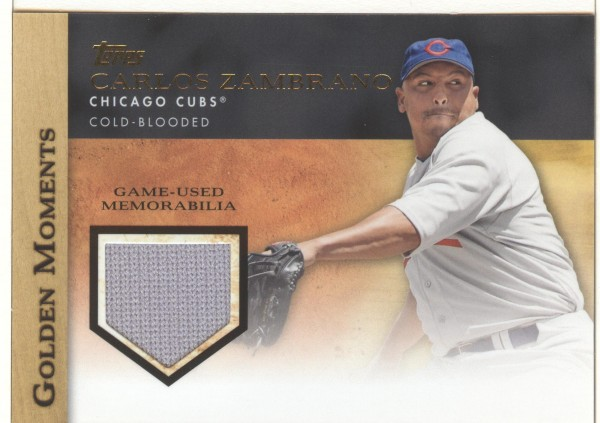 2012 Topps Golden Moments Relics #CZ Carlos Zambrano S2