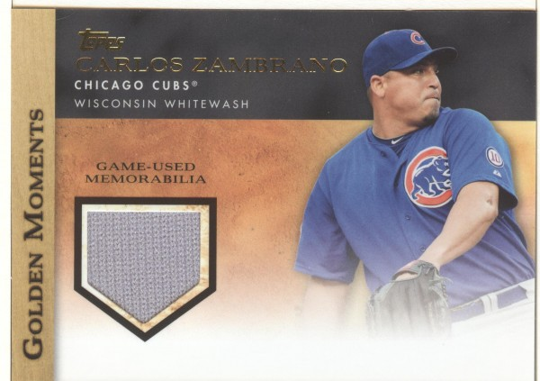 2012 Topps Golden Moments Relics #CZA Carlos Zambrano S2