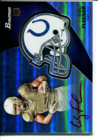 2012 Bowman Rookie Team Helmet Autographs Red Ink #BCRACF Coby Fleener front image