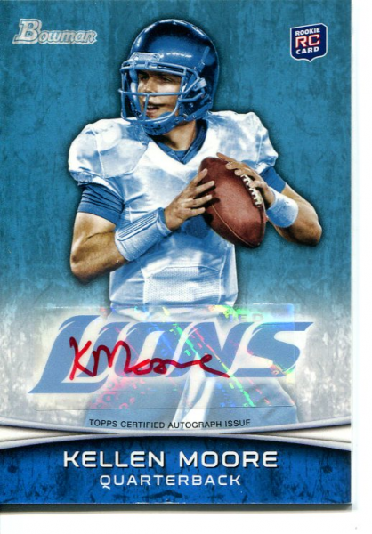2012 Bowman Rookie Autographs Red Ink #107 Kellen Moore