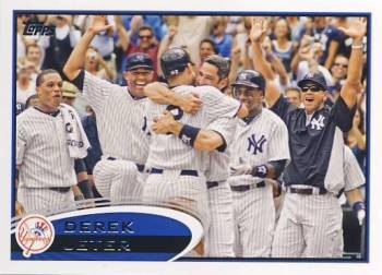 2012 Topps #30B Derek Jeter VAR SP/Celebrating
