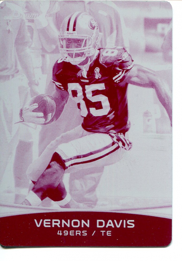 2012 Bowman Printing Plates Magenta #74 Vernon Davis