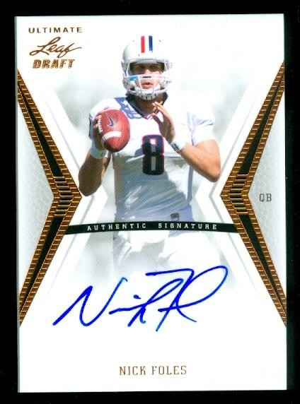 2012 Leaf Ultimate Draft #NF1 Nick Foles