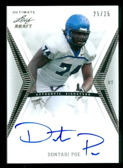 2012 Leaf Ultimate Draft Silver #DP3 Dontari Poe