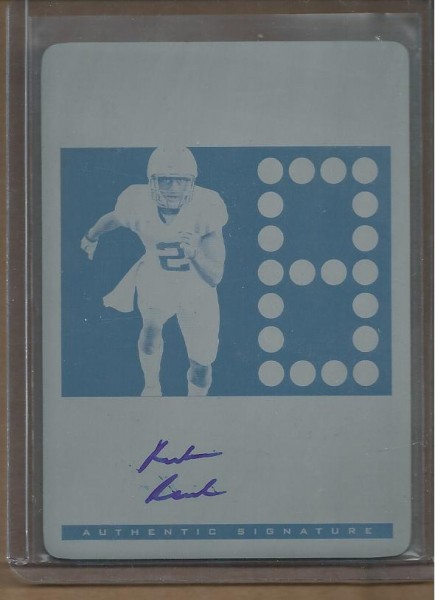 2012 Leaf Ultimate Draft TD Countdown Printing Plates Cyan #TDCRR1 Rueben Randle