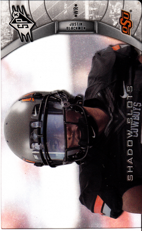 2012 SPx Shadow Slots Pose 1 #JB1 Justin Blackmon