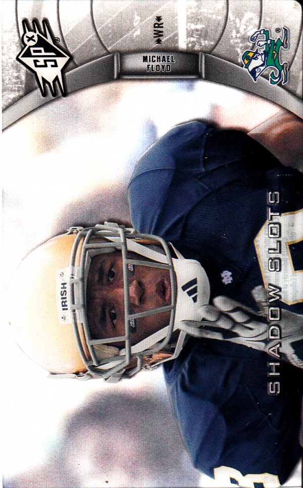 2012 SPx Shadow Slots Pose 3 #MF3 Michael Floyd