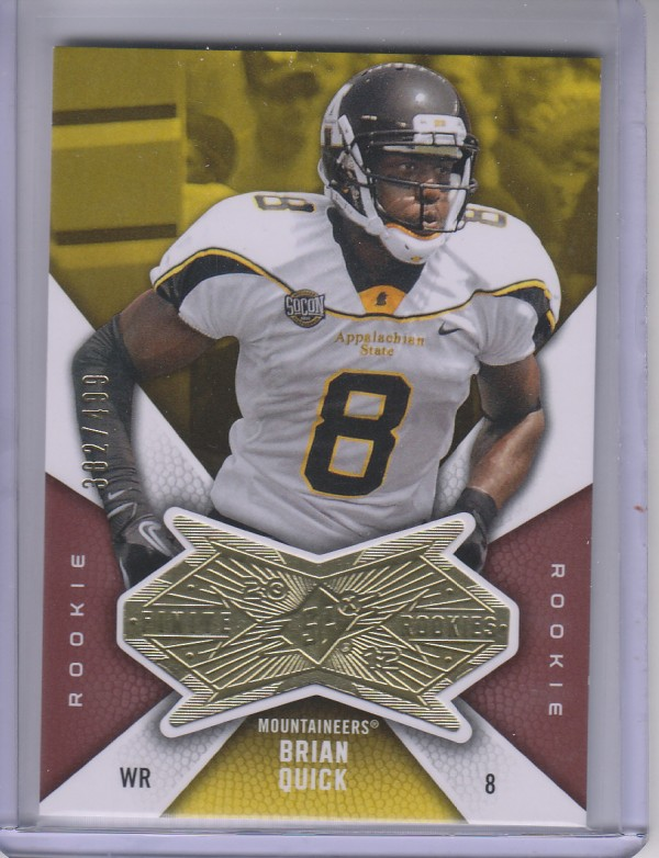 2012 SPx Finite Rookies #FBQ Brian Quick/499