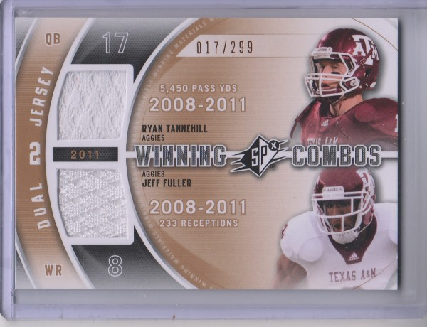 2012 SPx Winning Combos Dual Jerseys #WM29 Ryan Tannehill/Jeff Fuller