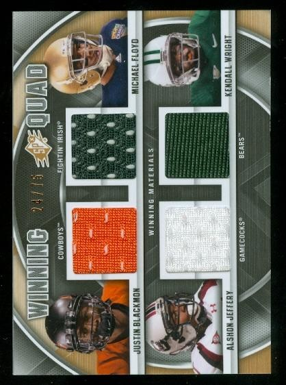 2012 SPx Winning Quad Jerseys #WM43 Justin Blackmon/Michael Floyd/Kendall Wright/Alshon Jeffery