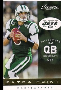 2012 Prestige Extra Points Gold #129 Mark Sanchez