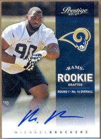 2012 Prestige Rookie Autographs #213A Michael Brockers/899