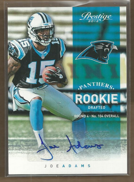 2012 Prestige Rookie Autographs #282 Joe Adams/799