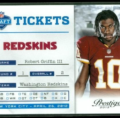 2012 Prestige NFL Draft Tickets #2 Robert Griffin III