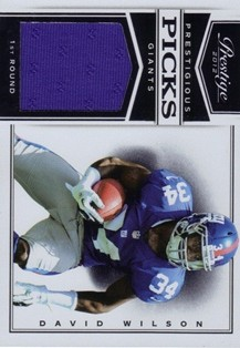 2012 Prestige Prestigious Picks Materials Black #11 David Wilson