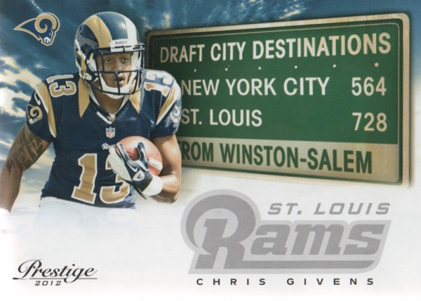 2012 Prestige Draft City Destination #19 Chris Givens
