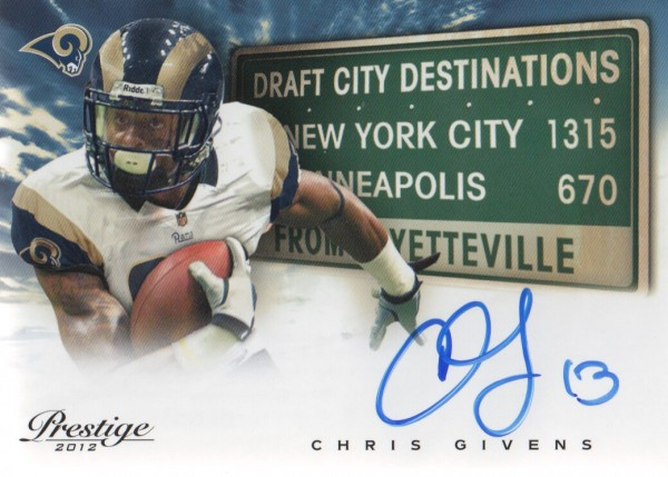 2012 Prestige Draft City Destination Autographs #19 Chris Givens
