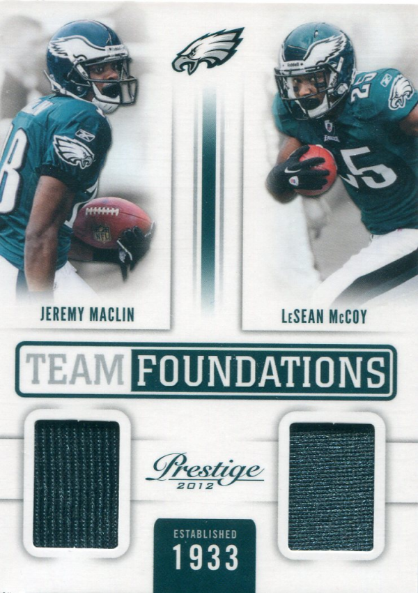 2012 Prestige Team Foundations Combo Materials #1 Jeremy Maclin/LeSean McCoy