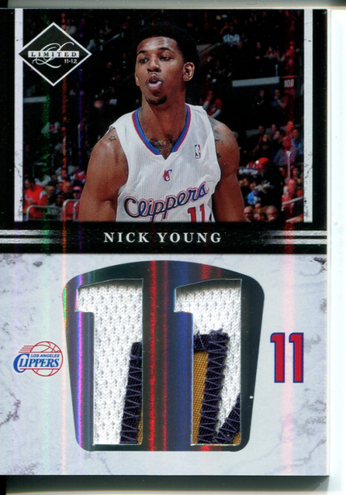 2011-12 Limited Jumbo Jersey Numbers Prime #14 Nick Young/25 back image