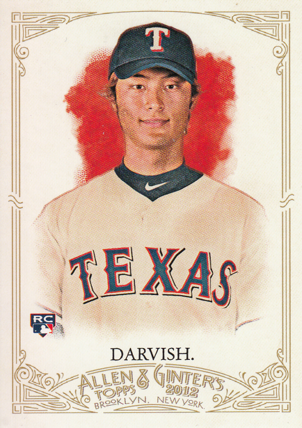 2012 Topps Allen and Ginter #4 Yu Darvish RC