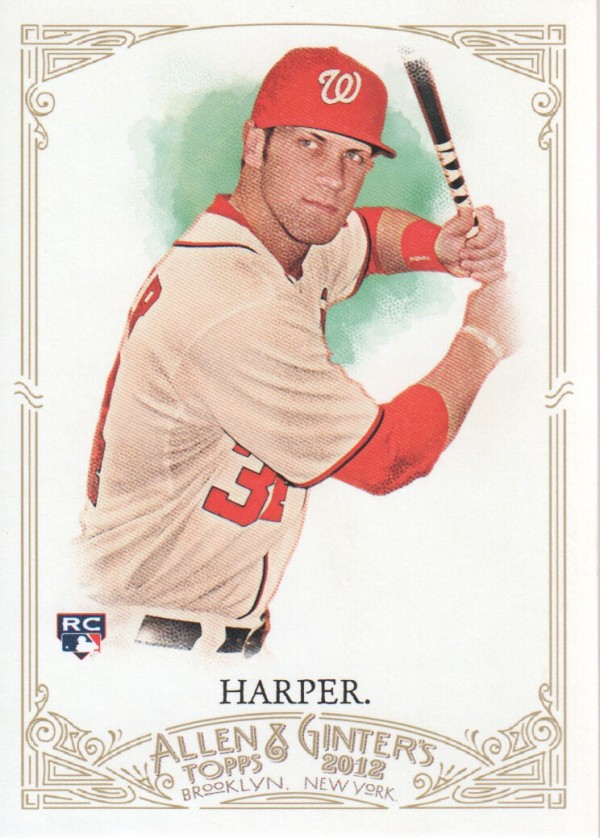 2012 Topps Allen and Ginter #12 Bryce Harper RC
