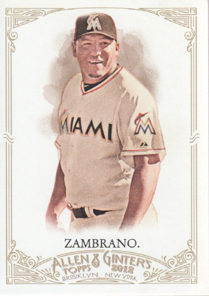 2012 Topps Allen and Ginter #30 Carlos Zambrano