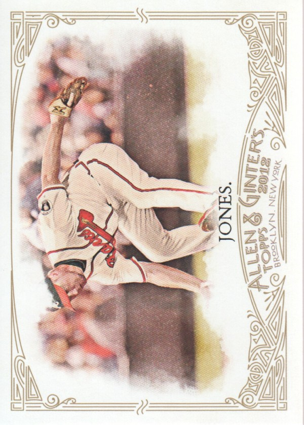 2012 Topps Allen and Ginter #33 Chipper Jones