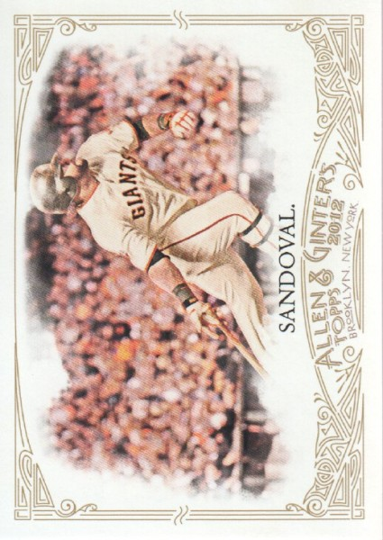 2012 Topps Allen and Ginter #38 Pablo Sandoval
