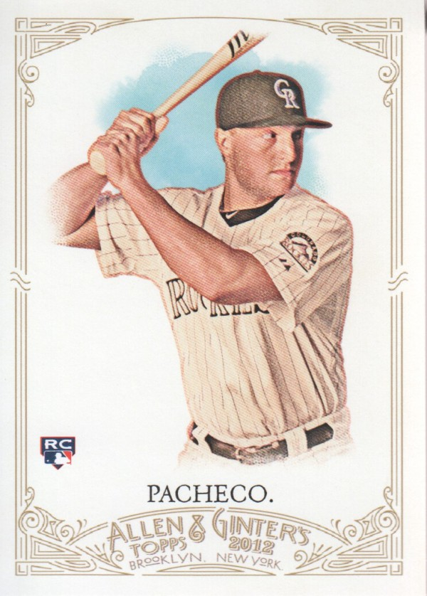 2012 Topps Allen and Ginter #56 Jordan Pacheco RC