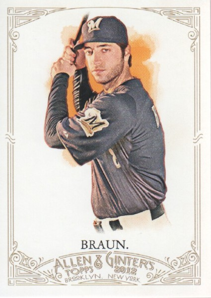 2012 Topps Allen and Ginter #58 Ryan Braun
