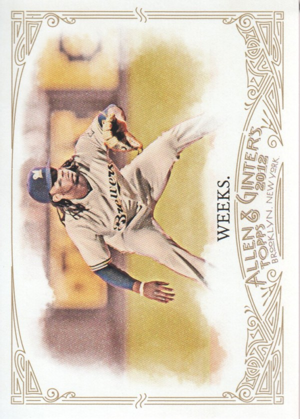 2012 Topps Allen and Ginter #68 Rickie Weeks