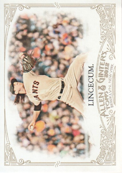 2012 Topps Allen and Ginter #109 Tim Lincecum