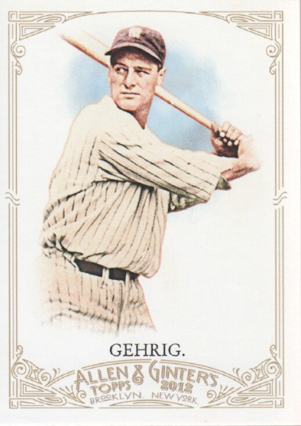 2012 Topps Allen and Ginter #196 Lou Gehrig
