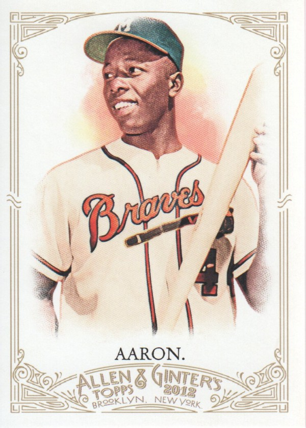 2012 Topps Allen and Ginter #247 Hank Aaron