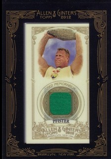 2012 Topps Allen and Ginter Relics #PP Phil Pfister