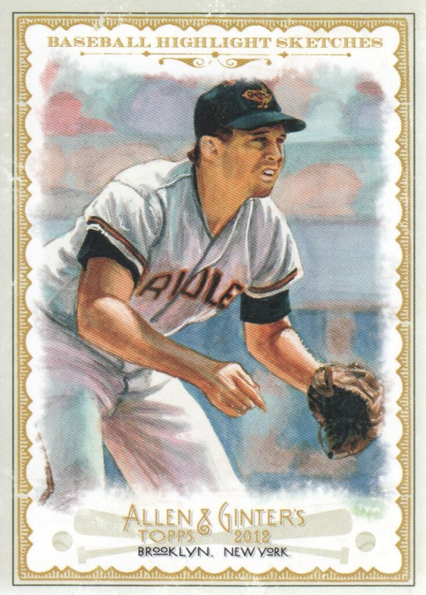 2012 Topps Allen and Ginter Baseball Highlights Sketches #BH5 Brooks Robinson