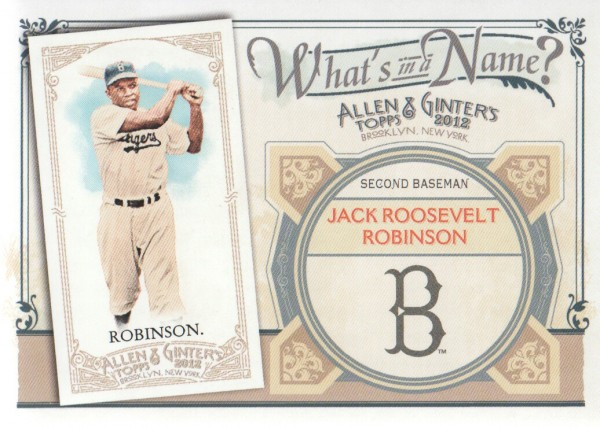 2012 Topps Allen and Ginter What's in a Name #WIN21 Jack Roosevelt Robinson