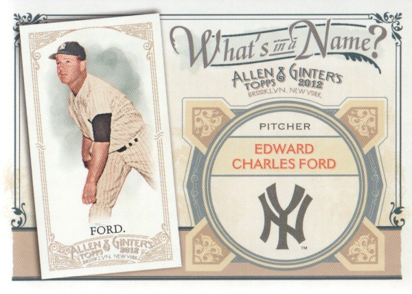 2012 Topps Allen and Ginter What's in a Name #WIN98 Edward Charles Ford