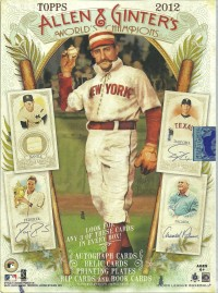 2012 Topps Allen and Ginter Baseball Hobby Box front image