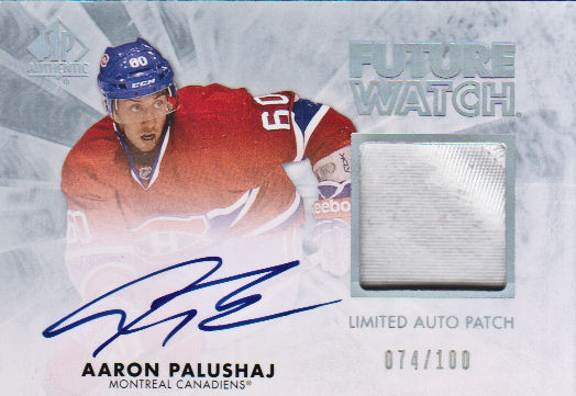 2011-12 SP Authentic Limited Patches #229 Aaron Palushaj AU/100