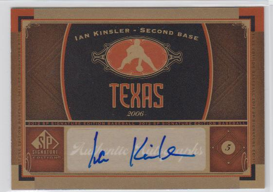 2012 SP Signature Signatures #TEX2 Ian Kinsler C