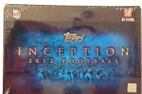 2012 Topps Inception Football Hobby Box front image